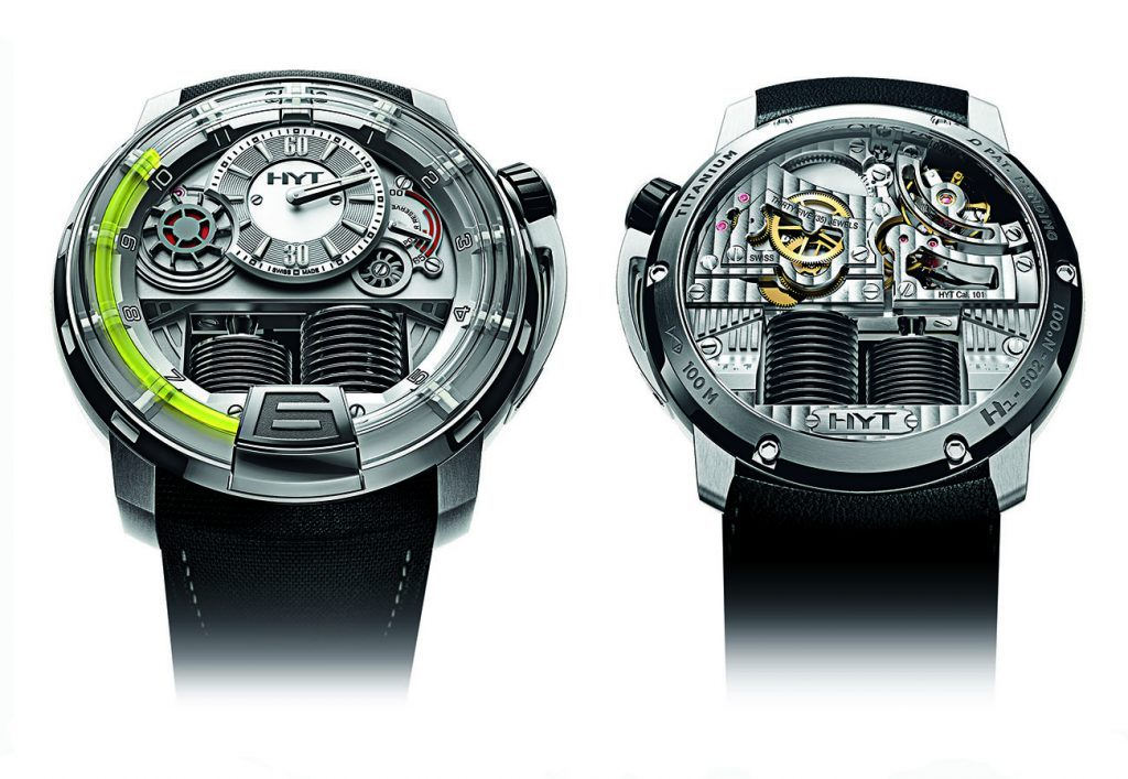 Front and back of the H1, which was unveiled at Baselworld in 2012