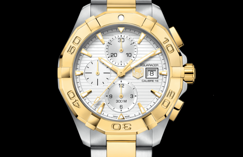 Aquaracer Calibre 16 Automatic Chronograph 300 M - 43 mm Steel & Yellow Gold CAY2121.BB0923 TAG Heuer watch price