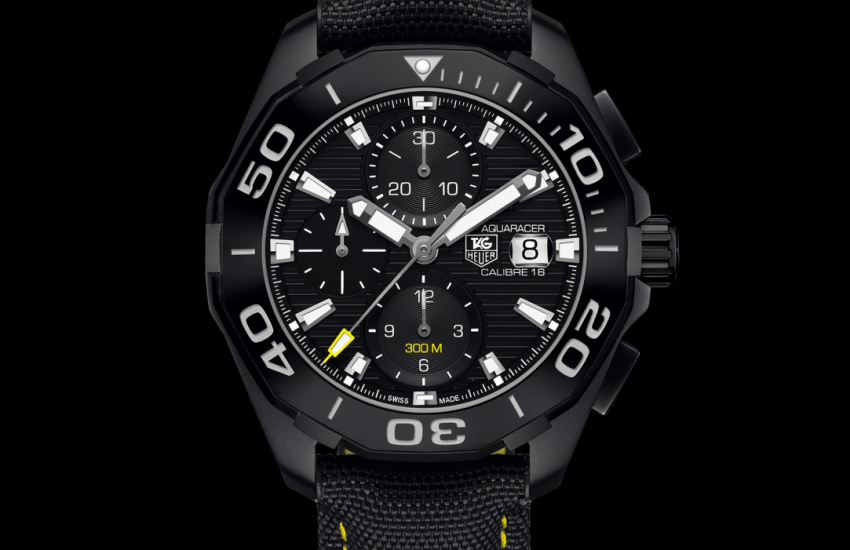 Aquaracer Calibre 16 Automatic Chronograph 300 M - 43 mm All Black CAY218A.FC6361 TAG Heuer watch price