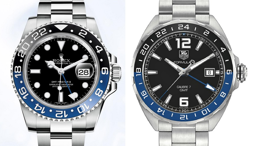 TAG Heuer Formula 1 GMT Watch With Black & Blue Bezel Watch Releases