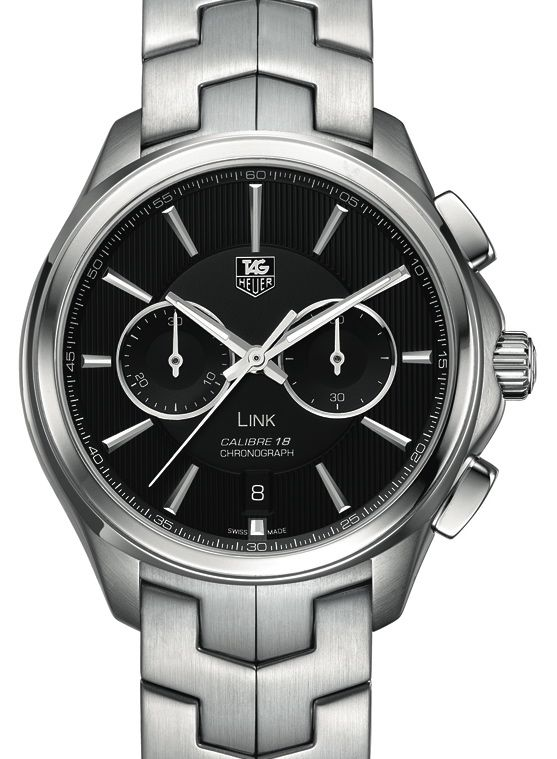 TAG Heuer Link Calibre 18 Watch: Mid-Size Chronograph Watch Releases